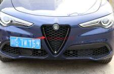 Carbon Fiber Front middle grille decorative frame For Alfa Romeo Stelvio 17-2019