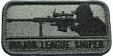 MAJOR LEAGUE SNIPER MILSPEC US ARMY USA MILITARY MULTICAM MORALE HOOK PATCH