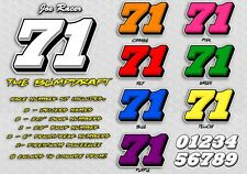 The Bump Draft Race Car Numbers Vinyl Decal Kit Package Street Stock Late Model
