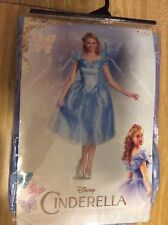 ADULT DISNEY CINDERELLA MOVIE DELUXE COSTUME DRESS Size Medium 8-10