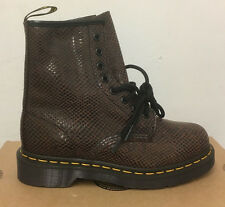 DR. MARTENS 1460  BROWN WAVE   LEATHER  BOOTS SIZE UK 7