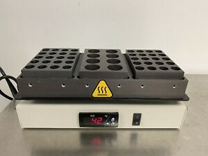 Glas-Col 099A HBC123 Digital Dry Block Heater, 3-Block, 120V Pre-owned Tested