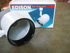 NEW EDISON E9301 WHITE TRACK LIGHT Black BAFFLE Round Back  Cooper Lighting