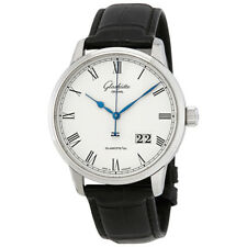 Glashutte Senator Varnished Silver Dial Automatic Mens Watch 100-03-32-42-50
