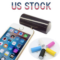 US Portable Stereo Speaker 3.5mm Plug  Amplifier For Cell Phone Tablet MP3 PC