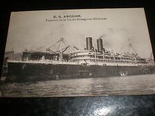 Old Postcard passenger ship  SS Angkor by Grimaud Marseilles c1900s ref 39(3)