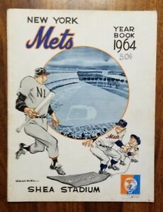 1964 New York Mets Yearbook Original, Not Final Excellent Condition, WHITE pages