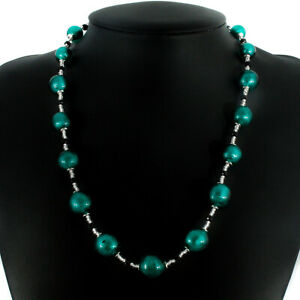 Murano Glass Art Necklace Bracelet Green Silver Black Beads Individual or Set