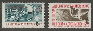 Mexico 1955 #C227-28 2nd Pan American Games - MNH
