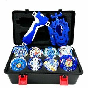 8X 4D Beyblade Burst Starter Bayblade Spielzeug Geschenk + Launcher mit Box Set