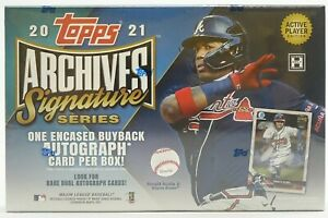 2021 Topps Archives Signature Baseball Box Active Player 1 Auto Free Shipping!