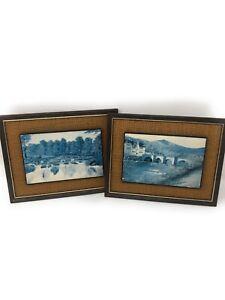 2 Vintage Kevin Platt Prints Of Welsh Area scenes In Frames