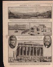 WWI Parthenon Temple Athens Athènes/Map Carte Combles la Somme 1916 ILLUSTRATION