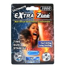1x Extra Zone Ultimate 3000 Male Sexual Enhancement Pill Rock Hard Erection E9