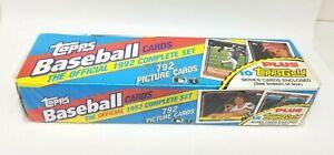 Topps Baseball Cards 1992 Complete Set 792 Cards New Sealed + 10 Topps Gold PSA