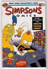 SIMPSONS COMICS #1 (1993) Rare Original Bongo! Includes Intact Poster NM Beauty!