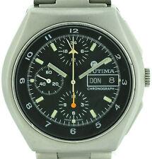 Tutima military vintage chronograph automático pulsera caballero reloj 80'er lem.5100