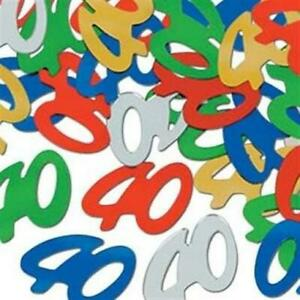 40th Birthday Confetti 1/2 oz 40th Birthday Party Tabletop Decoration Supplies