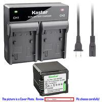 Kastar Battery Rapid Charger for Panasonic VBG260 HDC-HS100GK HDC-HS20 Camcorder