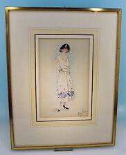 Art Deco Kolorierte Modezeichnung Mary-Jane - 32939 -