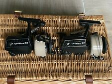 A matching pair of ABU Cardinal 60 Model A Classic Reels, Sweden, Lightly Used