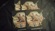 4 x iron maiden beer mats coasters