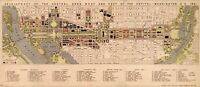 A4 Reprint of American Cities Towns States Map Washington Dc
