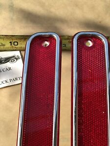 NEW REPLACEMENT PAIR 73 76 TO 80 CHEVROLET GMC TRUCK RED SIDE MARKER LIGHT LENS