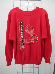 H2393 VTG Chicago Bulls NBA-Basketball Pull-Over Sweater Made in USA Size L