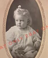 Vintage 1910's Cabinet Photo of Beautiful Little Girl Blonde Hair FRESNO Calif