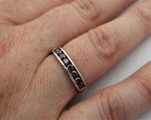 Fully Hallmarked 9ct White Gold Gems TV 'Hessonite' Garnet Lady's Ring..