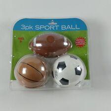 TODDLER 3 PACK MINI (Soft) SPORTBALL SET ~ FOOTBALL BASKETBALL SOCCER BALL