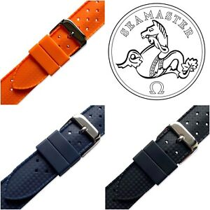 Silicone Rubber Tropic Diver Watch Strap Band For Omega Seamaster Planet Ocean