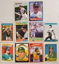 Jose Canseco Lot of 10(Ten) MLB Baseball 1980's & 1990's Real Nice