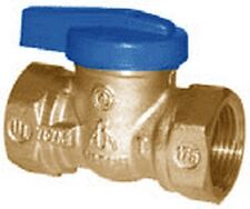 TWO  Gas Ball Valves 3/4 X 3/4 heavy duty forged brass & one-piece design