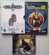Mercenarios Secret Wars + No One Lives Forever 2 + Vietcong Shooter colección PC