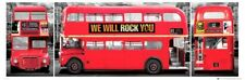 TRAVEL POSTER London Bus Triptych
