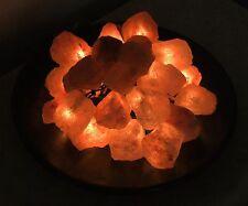 Salzkristall Lichtschale, Salzkristall Lampe, Tolle Leuchte, 20 flam.  NEU