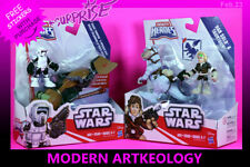 (2 packs) Gallactic Heroes Star Wars -Scout Trooper and Han Solo TaunTaun