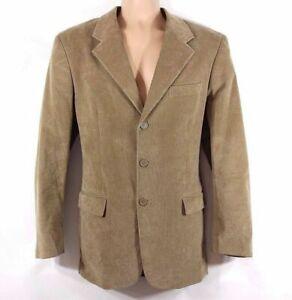 Men's Vintage Hip Length Fitted Stretch Corduroy Blazer Jacket L Pit To Pit 23in