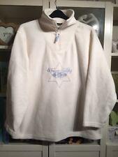 Q95 Giani Feroti Plus Sz 20/22 White Xmas Winter Embroidered Fleece Jumper