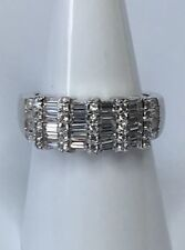 Sterling Silver 925 Cubic Zirconia Dress Ring Size N 1/2 - New