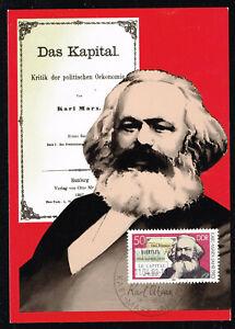 Germany Communist Leader Karl Marx Capital Postcard 1983 rare postmark