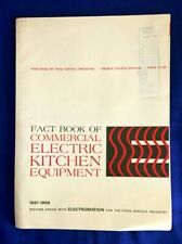 Rare 1968 Fact Book Of Commercial Electric Kitchen Equipment Magazine