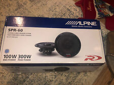New listing Alpine Spr-60 330-Watt Car Audio Component Speaker System New In Box