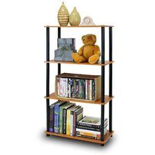 Shelf Display Storage Rack 4 Tier Adjustable Multipurpose Compact Shelving Unit