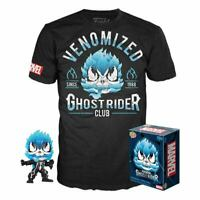 Marvel Venom Funko POP! & T-Shirt Box Venomized Ghost Rider SET MEDIUM SIZE