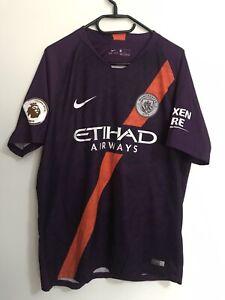Manchester City Third Football Shirt 2018-19 Nike Size Large - Genuine