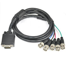 "SVGA to 5 BNC RGB VGA Monitor Cable Lead 59"" Video Cable Y8S8"