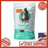 Hartz Hairball Remedy Plus Chicken Flavored Soft Chews Cats Kittens Pet Food 3oz